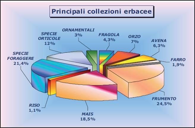 Principali collezioni di piante erbacee del CRA