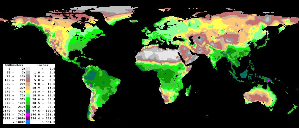 Pioggia annuale totale
